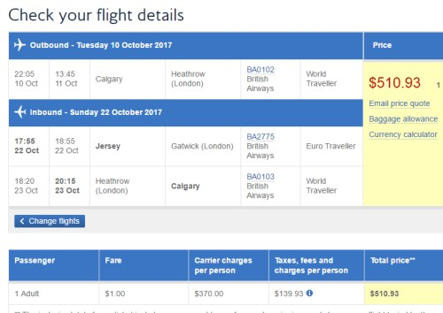 Flights From London Heathrow To Jersey Channel Islands