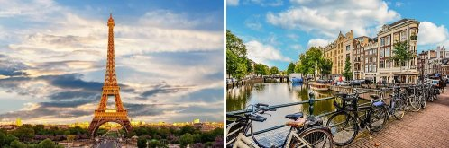 Paris, France and Amsterdam, Netherlands