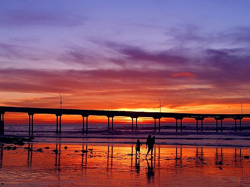 Sunset Pier, San Diego, California